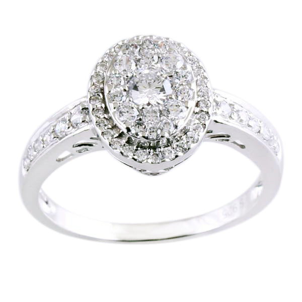0.60 CTW Diamond Fancy Circle Ring