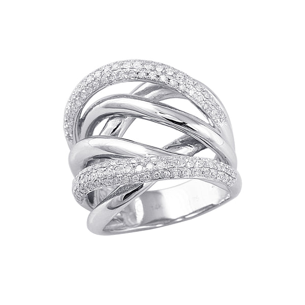 0.75 CTW Diamond Crossover Band Ring