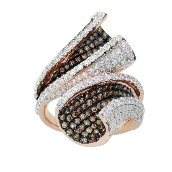 3.0 CTW Brown and White Diamond Band Ring
