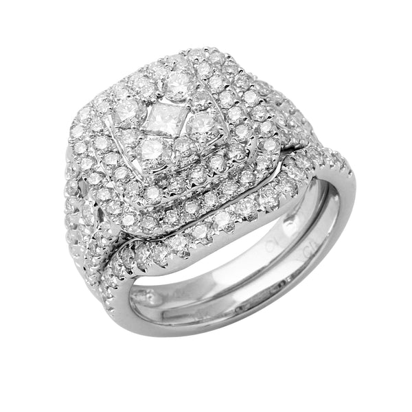 1.80 CTW Cushion Shape Diamond Bridal Set Ring