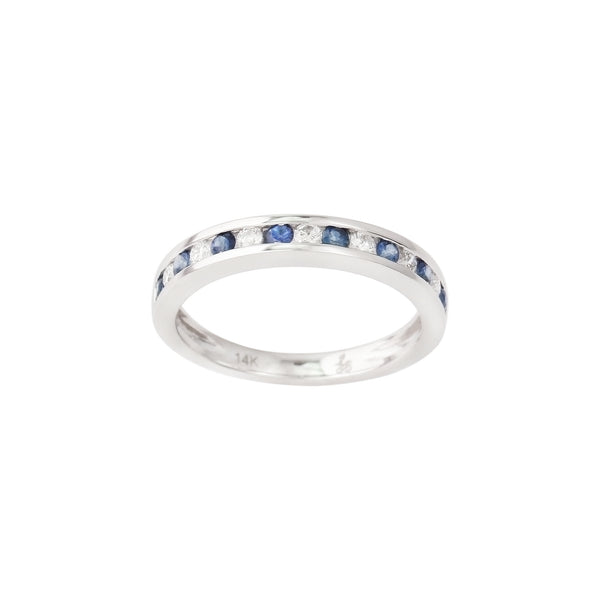 3.02 CTW Sapphire and Diamond Band Ring
