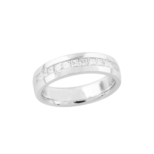 1.05 CTW Princess Cut Diamond Band Ring