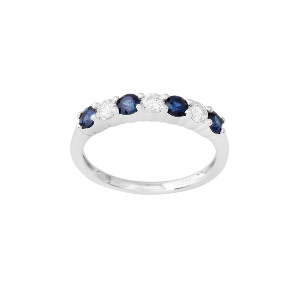 2.33 CTW Sapphire and Diamond Band Ring
