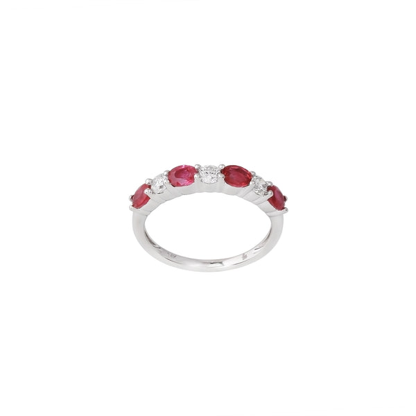 2.26 CTW Ruby and Diamond Band Ring