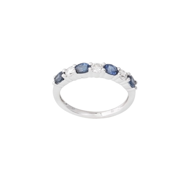 2.38 CTW Sapphire and Diamond Band Ring