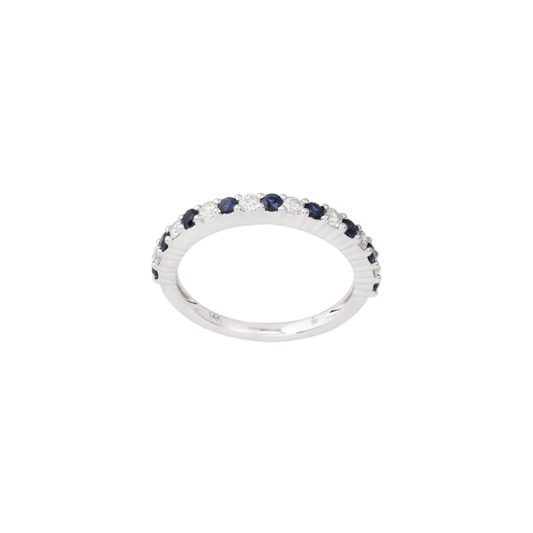 2.28 CTW Sapphire and Diamond Band Ring