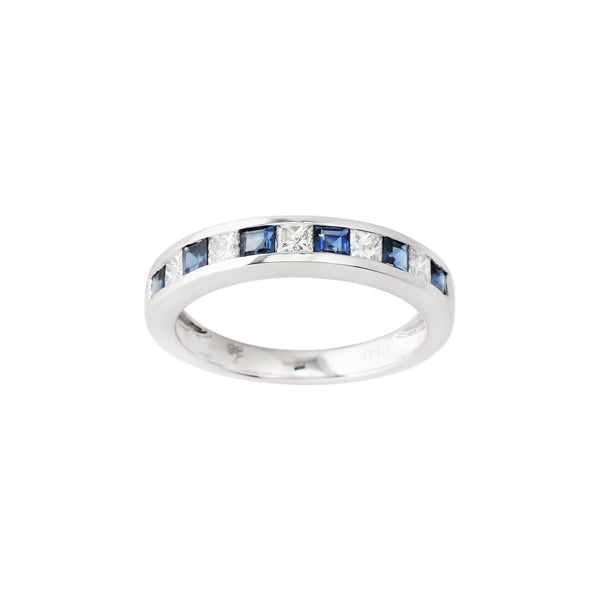 3.32 CTW Sapphire and Diamond Band Ring