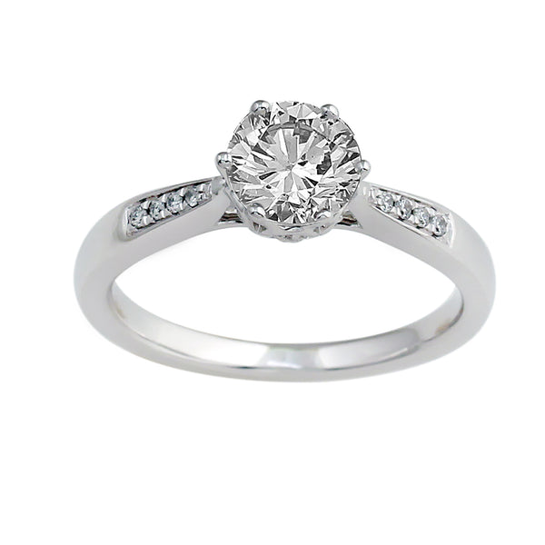 14K White Gold .75CTTW Lab-Grown Diamond 5 Prong Semi-Mount Ring