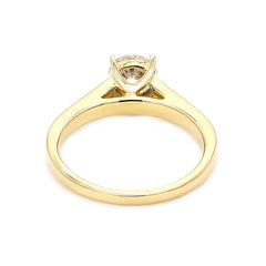 Gold Lab-Grown Diamond Solitaire Ring