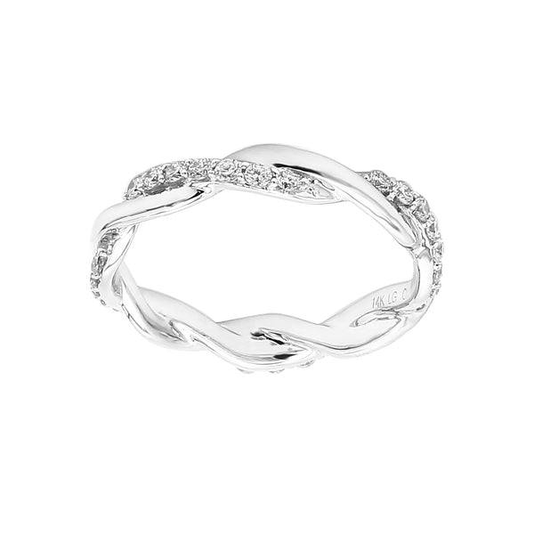 14K White Gold 0.50CTTW Lab Grown Diamond Twisted Band