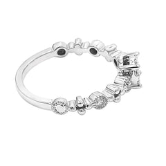 Diamond Cluster Stacking Ring - Sideview