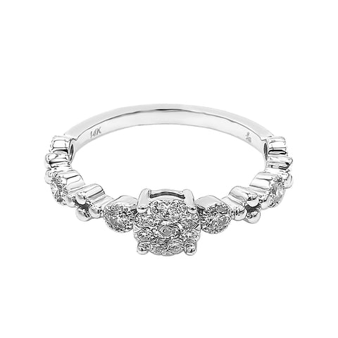 Diamond Cluster Stacking Ring