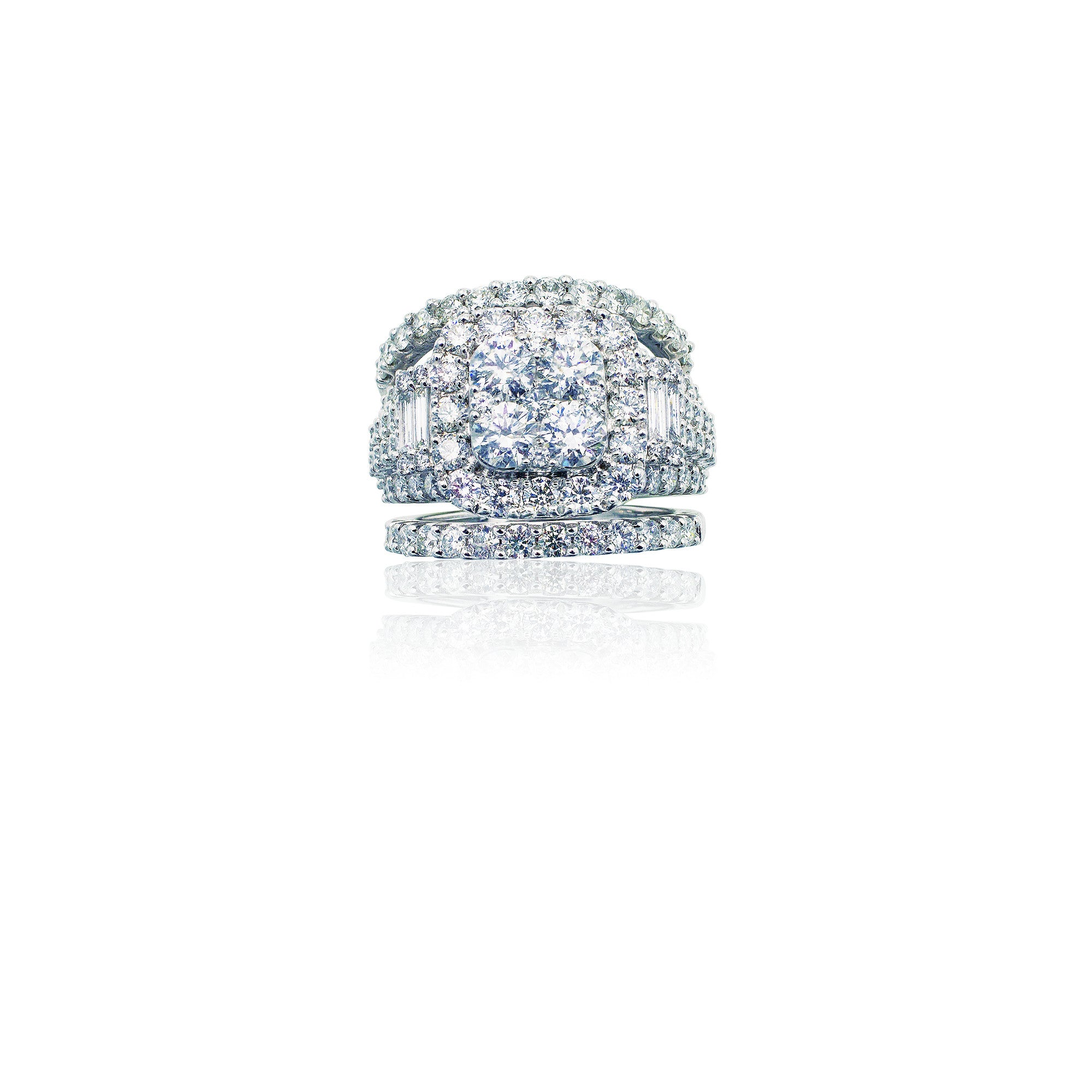 4.00 CTW Diamond Ring with Bands