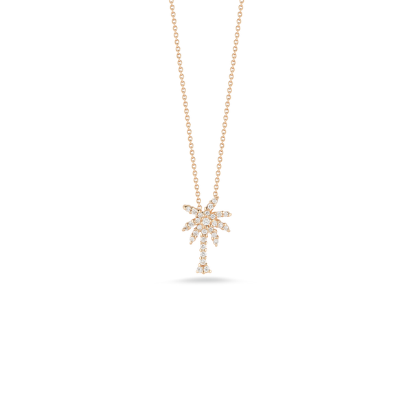 PALM TREE PENDANT WITH DIAMONDS
