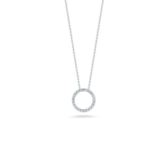 X SMALL CIRCLE PENDANT WITH DIAMONDS