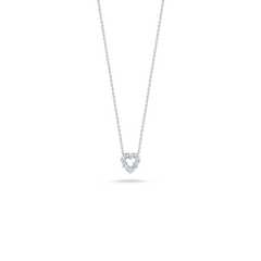 18K White Gold Heart Pendant With Diamonds