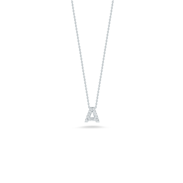 LOVE LETTER A PENDANT WITH DIAMONDS