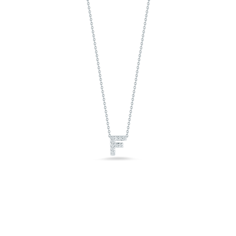 LOVE LETTER F PENDANT WITH DIAMONDS