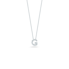 LOVE LETTER G PENDANT WITH DIAMONDS