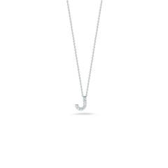 LOVE LETTER J PENDANT WITH DIAMONDS