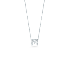 LOVE LETTER M PENDANT WITH DIAMONDS