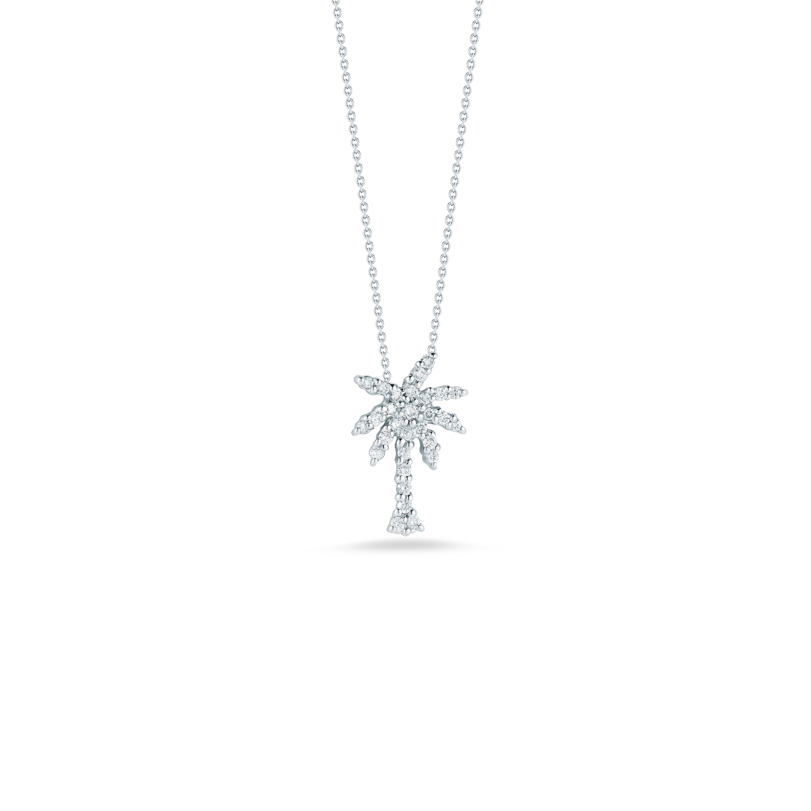 SMALL PALM TREE PENDANT WITH DIAMONDS