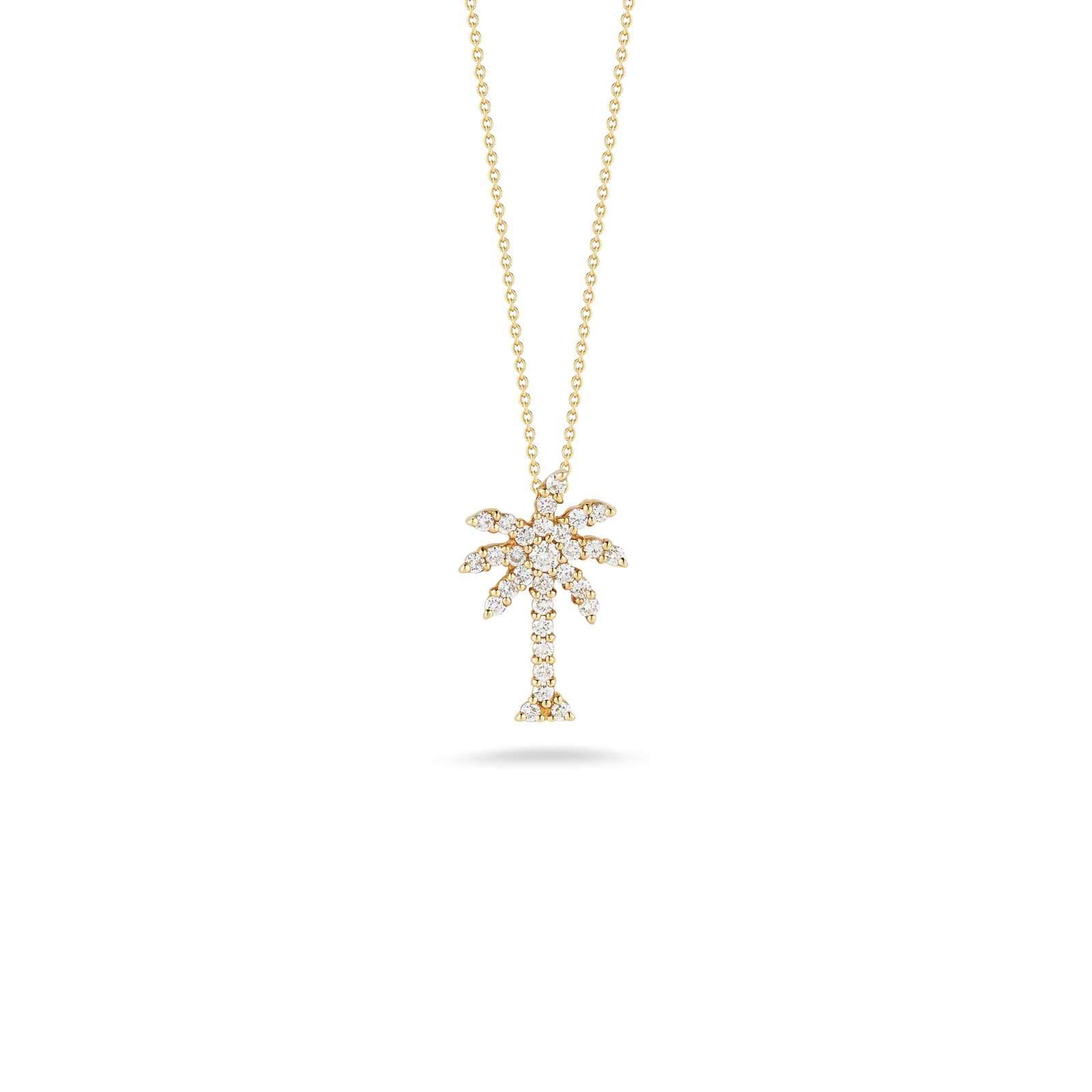 Large palm tree pendant with diamonds little switzerland large palm tree pendant with diamonds aloadofball Images