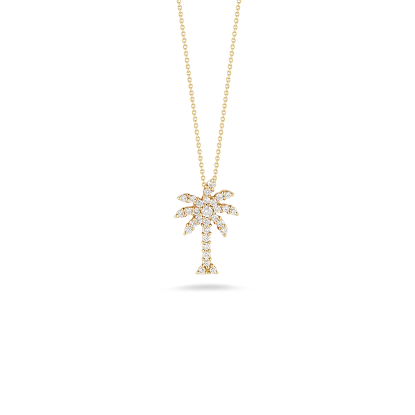 LARGE PALM TREE PENDANT WITH DIAMONDS