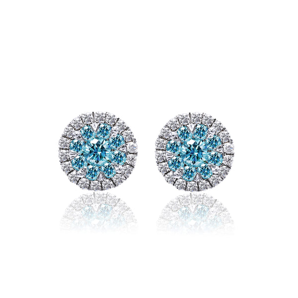 Aqua Blue Diamond Earrings (1.15 ct. tw.)