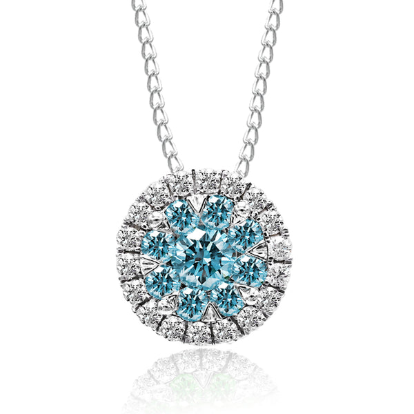 Aqua Blue Diamond Pendant (1.00 ct. tw.)