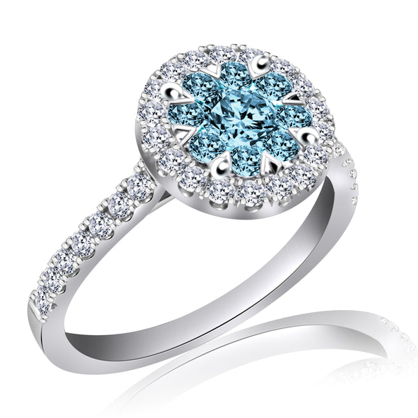 Aqua Blue Diamond Ring (1.00 ct. tw.)