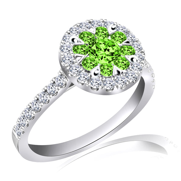 Fancy Green Diamond Ring (1.00 ct. tw.)