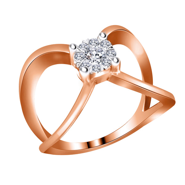 14KT Rose Gold Free Form  Diamond Ring (0.25 ct. tw.)