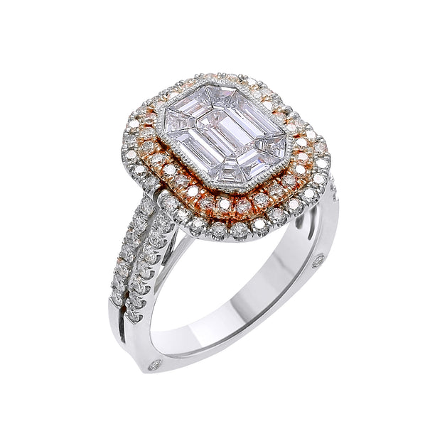 18KT Rose and White Gold Fancy Diamond Ring (2.35 ct. tw.)