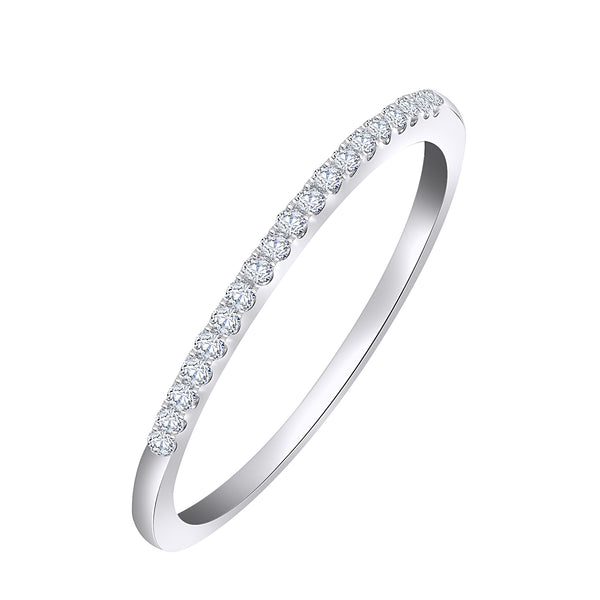 14KT White Gold Diamond Accent Band (0.15 ct. tw.)