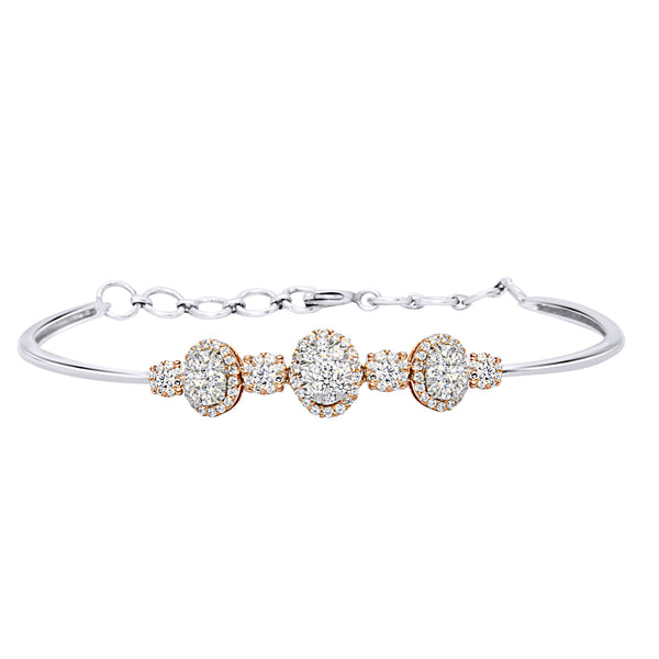 14KT White and Rose Gold Adjustable Diamond Bracelet (1.00 ct. tw.)