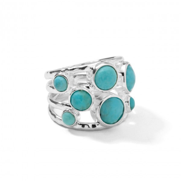 Rock Candy Sterling Silver Constellation Ring, Turquoise