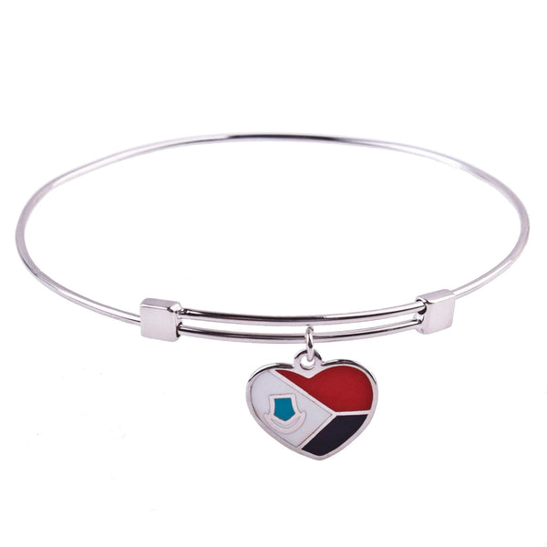 St. Maarten Flag Sterling Silver Charm Bangle