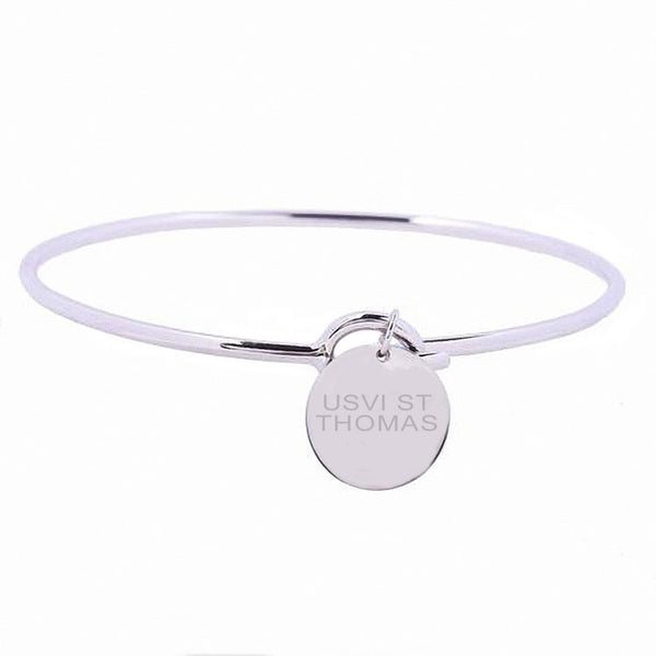 United States Virgin Islands Love Sterling Silver Charm Bangle