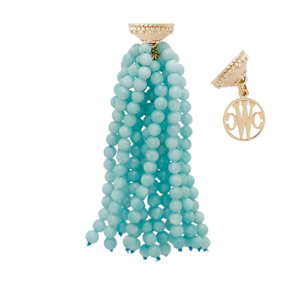 The Victoire Amazonite Tassel