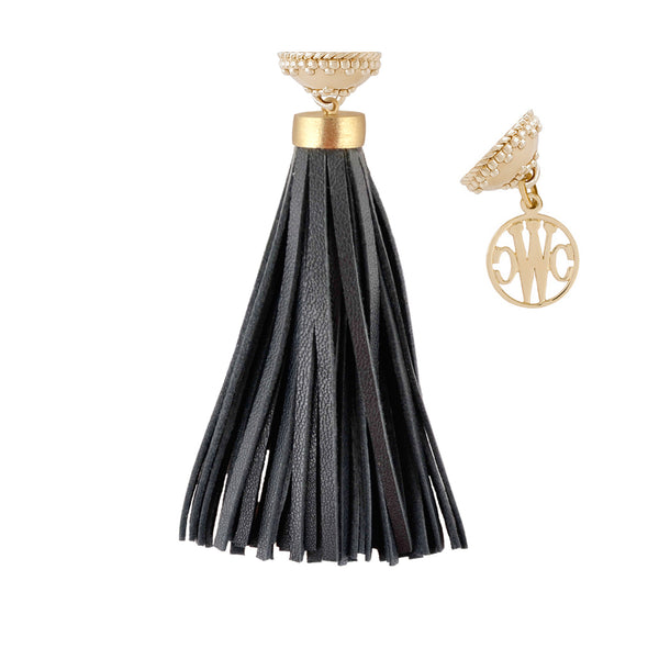 The Sedona Black Leather Tassel