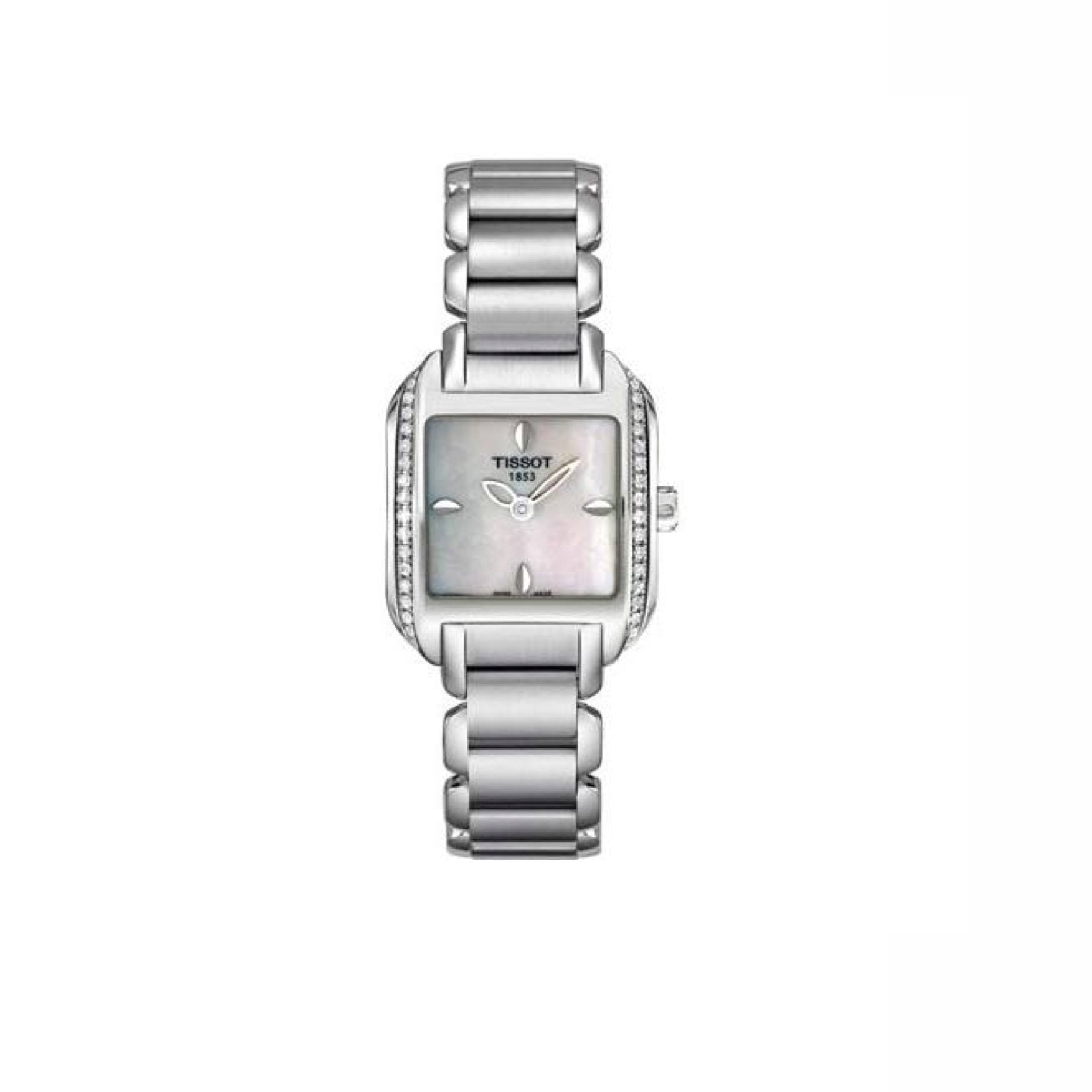 Tissot T-Wave Mother of Pearl Dial Stainless Steel Ladies Watch