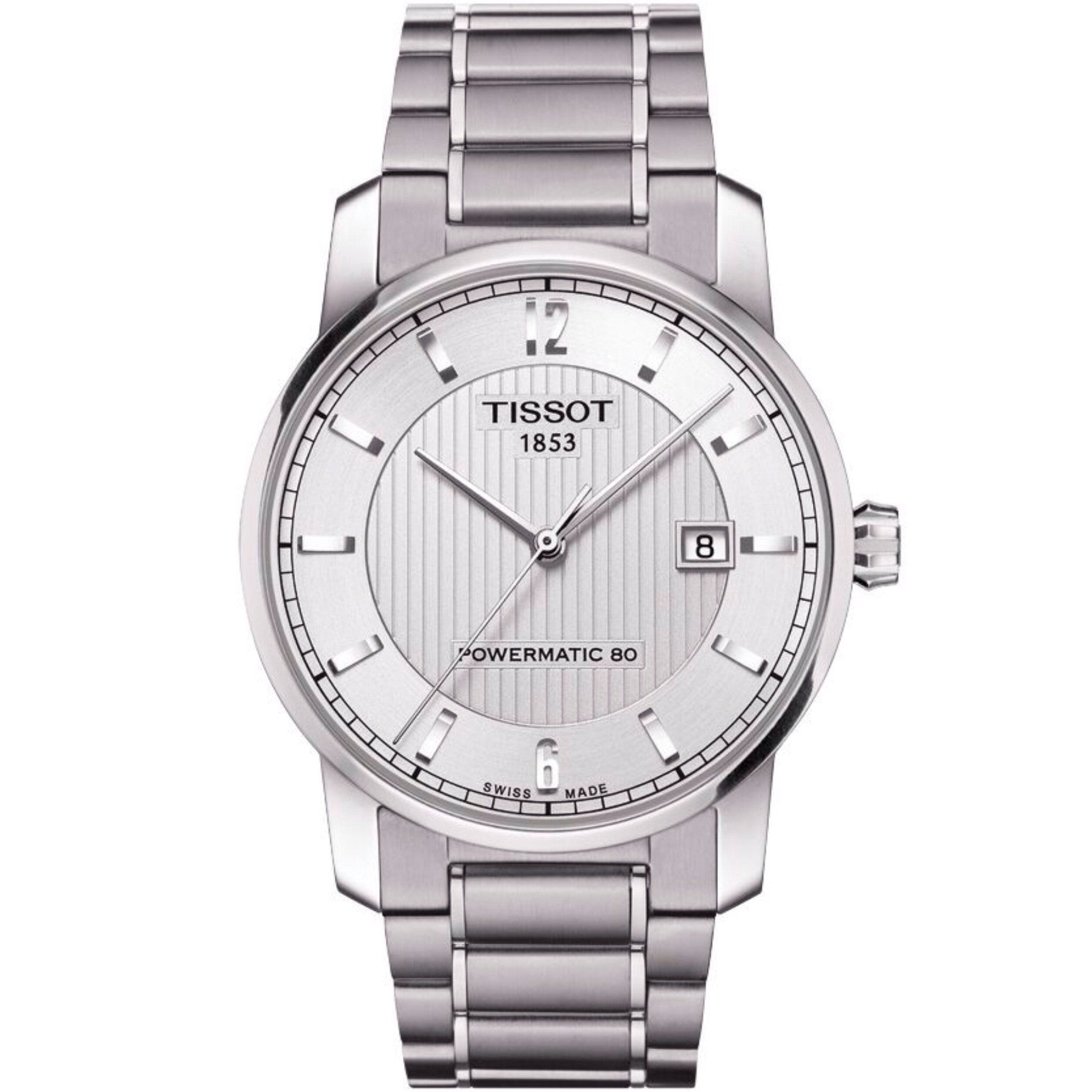 Tissot Titanium Men's Automatic Silver Dial Watch with Titanium Bracelet