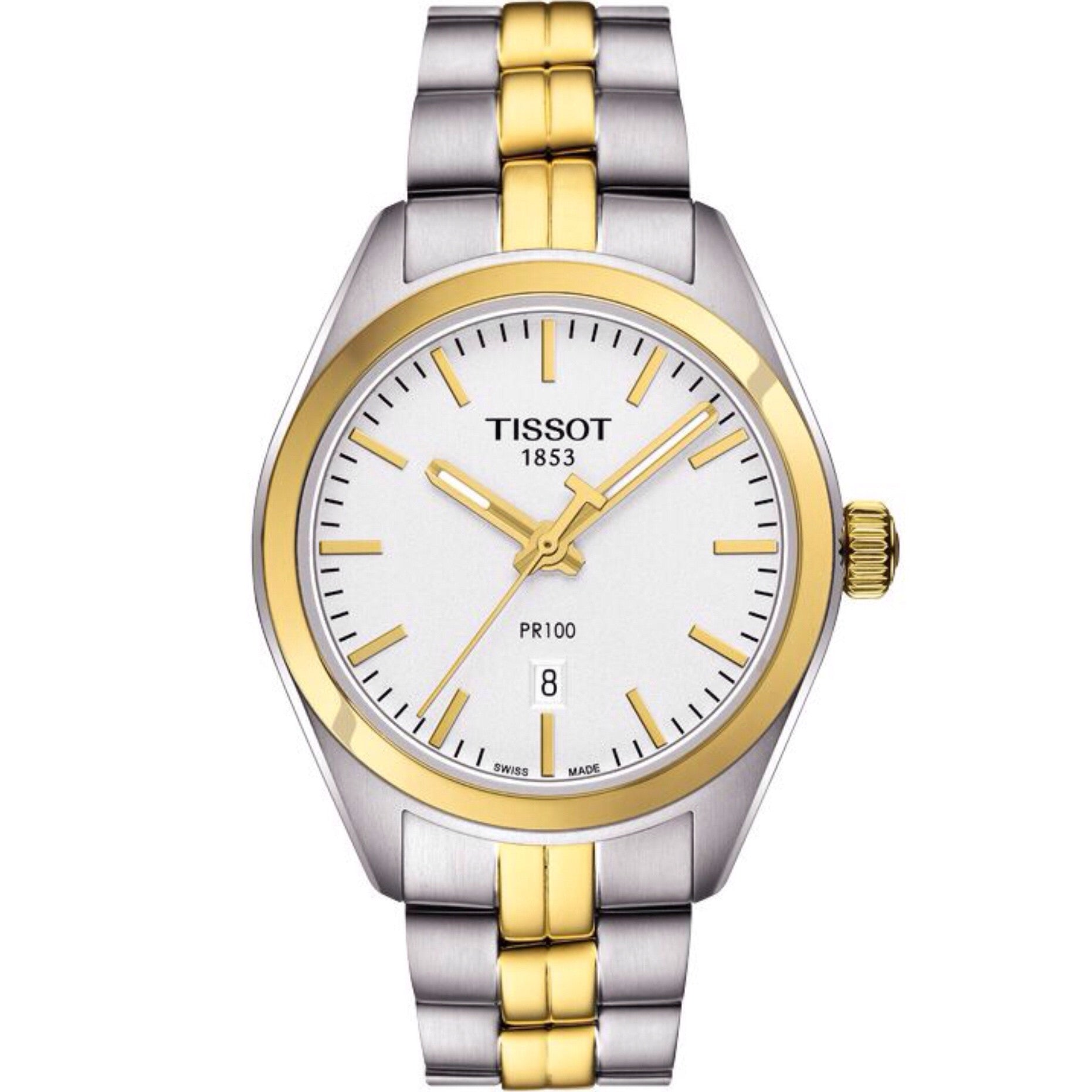 Tissot PR 100 Women's Quartz Silver Dial with Two-Tone Stainless Steel Bracelet