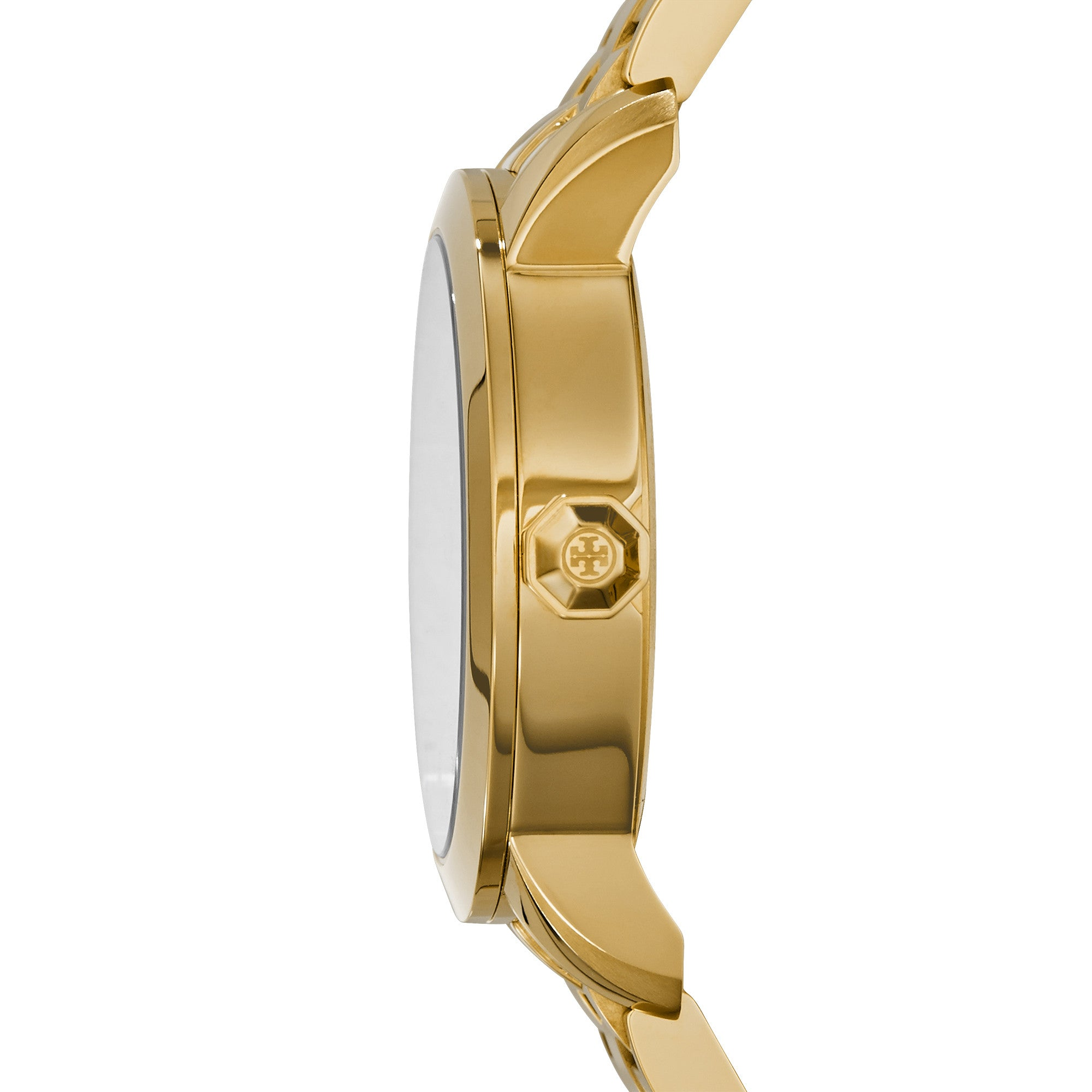 TORY WATCH, GOLD-TONE/IVORY, 37 MM