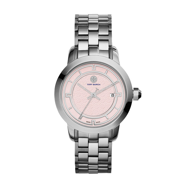 TORY WATCH, STAINLESS STEEL/PINK, 37 MM