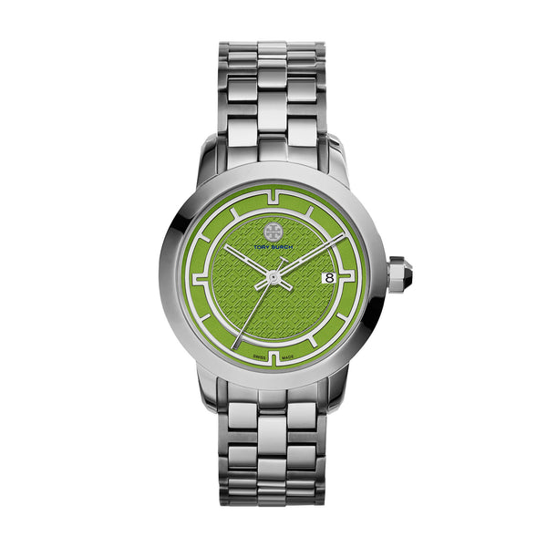 TORY WATCH, STAINLESS STEEL/GREEN, 37 MM