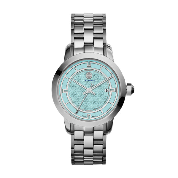 TORY WATCH, STAINLESS STEEL/BLUE, 37 MM