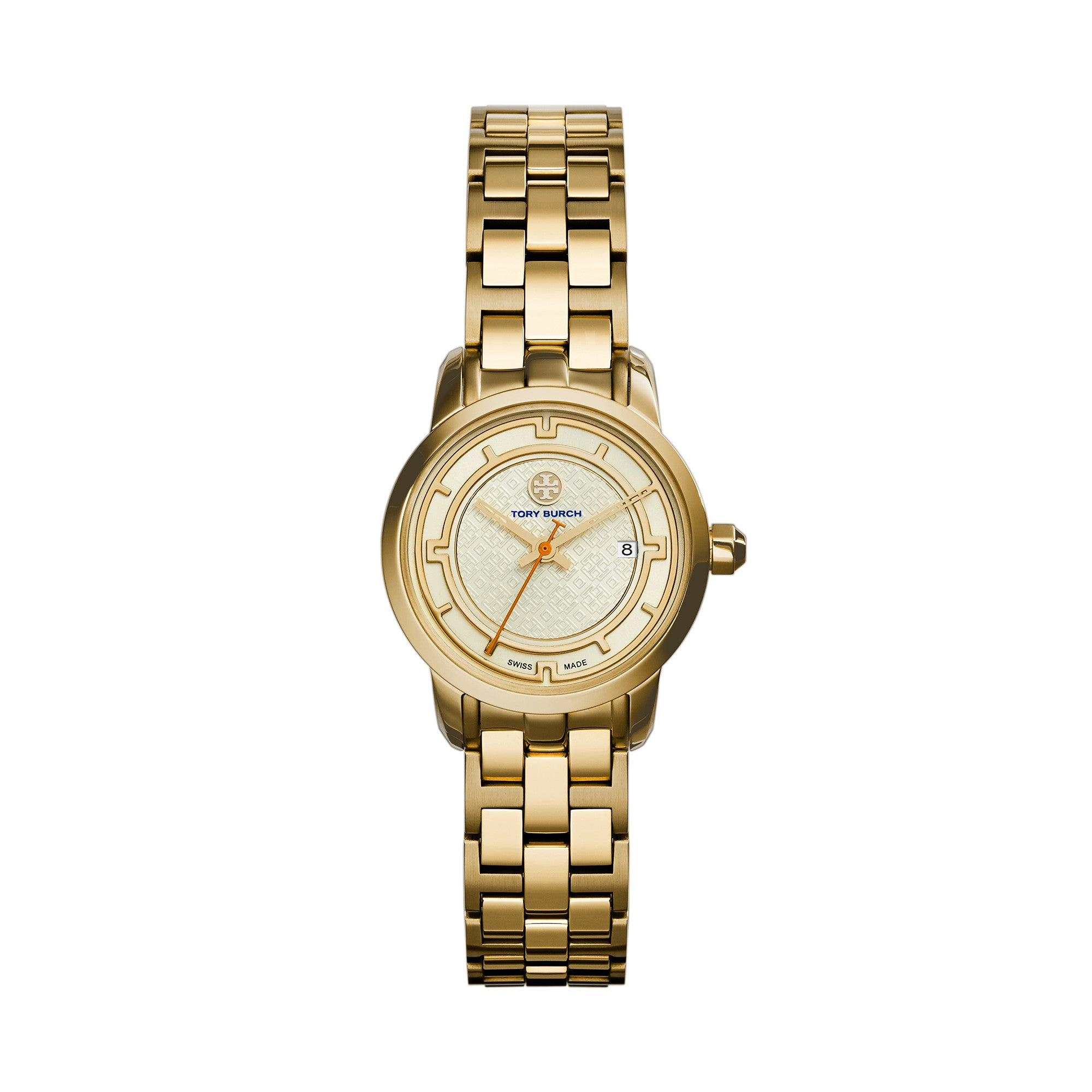 TORY WATCH, GOLD-TONE/IVORY, 28 MM