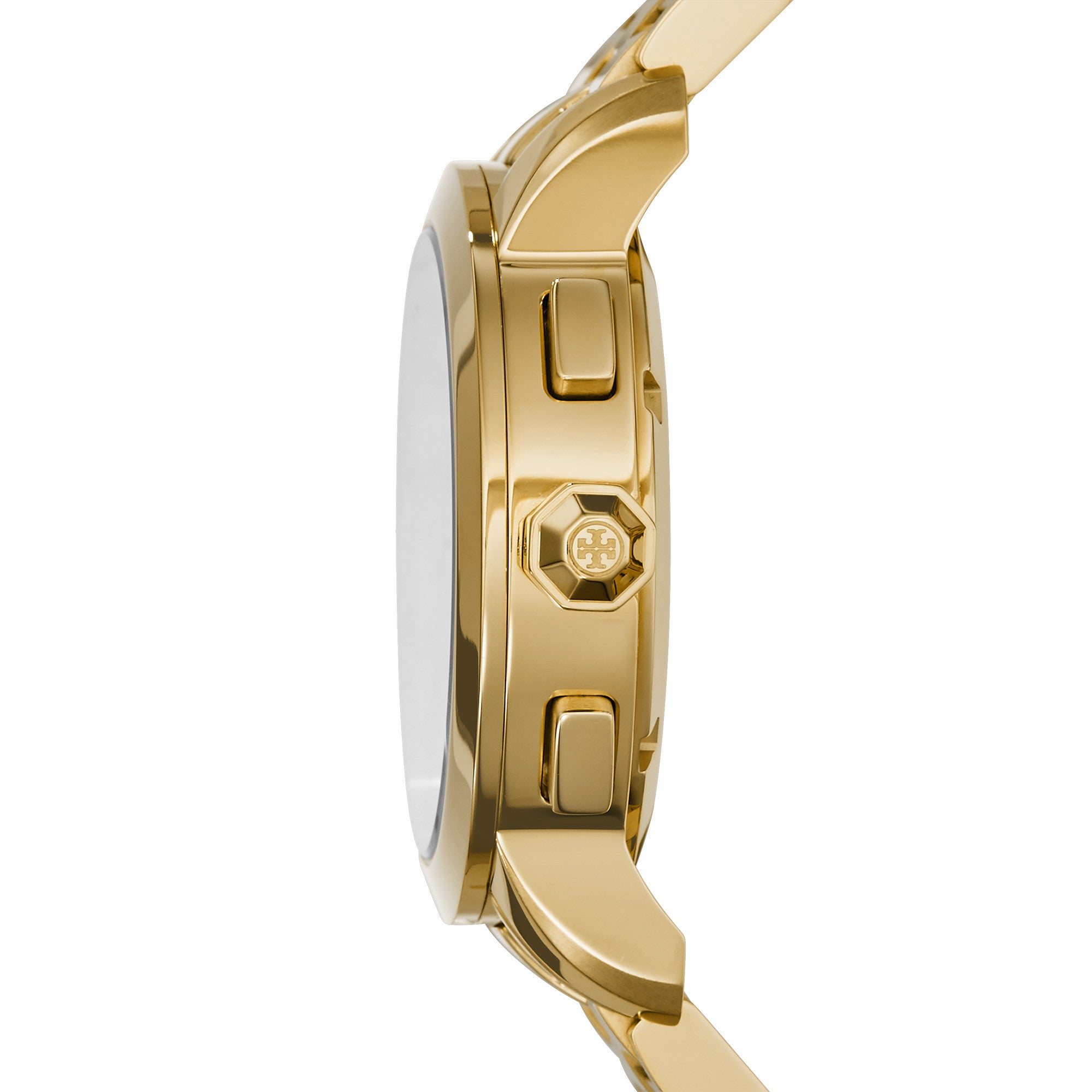 TORY WATCH, GOLD-TONE/NAVY CHRONOGRAPH, 37 MM